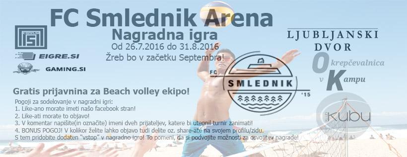 Druga nagradna igra - Gratis prijavnina za beach volley ekipo!